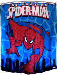 marvel spiderman polyester 70 x 72 inch shower curtain comic book