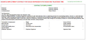 sales rep termination letter sales representative radio and television time employment contract