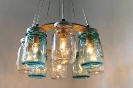 jar lighting fixtures. Mason Jar Chandelier Beach House Lighting Fixture Blue Hanging Lights Pendant Light Lamp How To Create Fixtures M