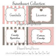 Table Labels Template Free Printable Candy Buffet Labels Template Themes High