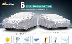 Audew 6 Layer Premium Anti Uv Car Cover For Sedan Suv