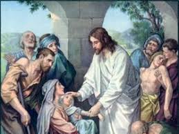Image result for pictures of Jesus visiting the sick