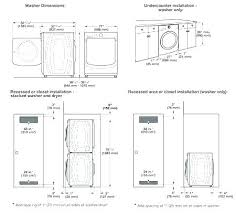 Washer And Dryer Sizes Chart Wiring Diagram Ge Stackable Washer Dryer Technical Diagrams