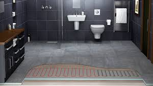 heated tile floors in bathrooms. originally electric undertile heating was designed for cold tiles or stone in a bathroom kitchen so you can rest assured warmup\u0027s product range heated tile floors bathrooms