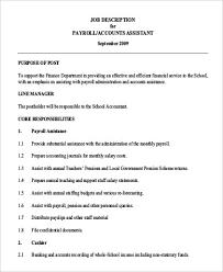 Payroll Accounting Job Description Payroll Accountant Job Description Acepeople Co