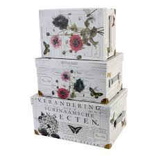 Decorative Storage Boxes Uk setof100trunkstyledecorativestorageboxestricoastaldesigns 2