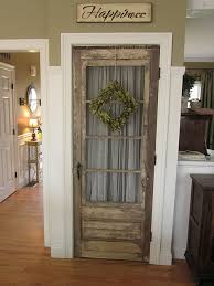 simply remove the newer door and replace with an old salvaged one
