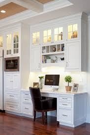 computer desk in kitchen. Contemporary Computer Computer Desk Ideas For Kitchen Builtin Look Beautiful Cabinet With  Drawers Drawer Pull Door Glass Combined Lighting In The Top  Throughout Computer Desk In Kitchen Pinterest