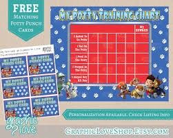 printable paw patrol potty training chart punch cards 🔎zoom