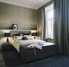 Modern Bedroom Curtain Apartments Contemporary Modern Bedroom Apartment Design With