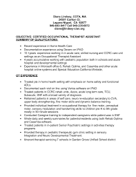 Certified Occupational Therapy Assistant Sample Resume Simple OT Resume 48