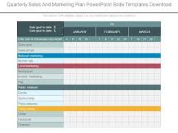 Quarterly Sales And Marketing Plan Powerpoint Slide