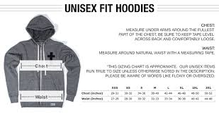 Hoodie Unisex Size Chart Sizing Chart Walk In Love
