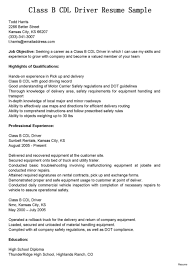 Cdl Truck Driver Resume Examples Templates Template Blank Astounding