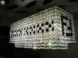 tetragonal crystal chandelier restaurant beads f type black crystal hanging lighting lamps restaurant cafe chandeliers eet 011