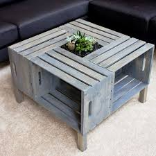 diy coffee table simple home designs crate tables pallet