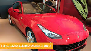 ferrari gtc4lusso india launch hear the v12 roar