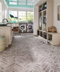 Mud Room Floor - Material we're loving: Brick-look tile. It's so much more  achievable to add this rustic look to a mudroom, bathroom, kitchen  anywhere.