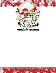 Christmas Stationery Template Holiday Letterhead Template Unique