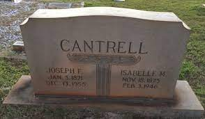 Isabella Morris Cantrell (1875-1946) - Find A Grave Memorial