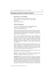 customer orientation examples pdf managing customer oriented research