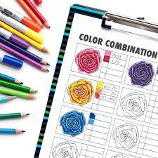Color Blending Chart Free Color Combination Chart