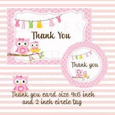 Mint Green Owl Baby Shower Thank You Notes W Poem Card Owl Baby Shower Thank You Cards
