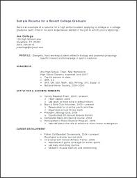 Example Profile For Resumes Profile On A Resume Example Blaisewashere Com