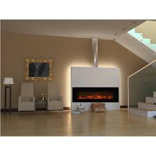 elite flame ashford  inch electric wall mounted fireplace black