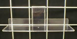 acrylic gridwall shelves display