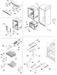parts for amana arb2214cw parb2214cw0 refrigerator 06 interior cabinet zer shelving parts for amana refrigerator arb2214cw parb2214cw0 from appliancepartspros