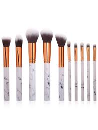 10pcs marbling handle makeup brushes kit