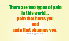 Life Quote There Are Two Types Of Pain In This World Adorable Pain And Life Quotes