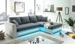 Details Zu Ecksofa Sofa Couch Schlafcouch Schlafsofa Led Weiß Anthrazit L Form Rechts