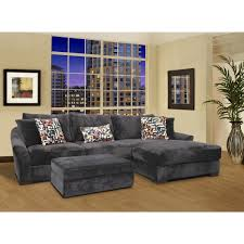 U Shaped Couch Living Room Furniture U Mocha Fabric Striped Chaise Lounge Sofa With Back And Arms Added