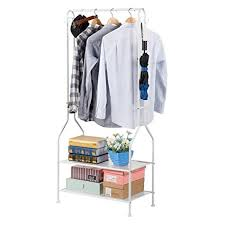 White Coat Rack With Storage Enchanting Amazon LANGRIA Heavy Duty Commercial Grade Clothing Garment