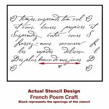 French Poem Craft Stencil Stencils For Furniture And Crafts Fabric Stencils Stencils For Diy Decor