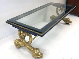 dolphin coffee table neoclassical style carved wood dolphin coffee table top of the table is painted