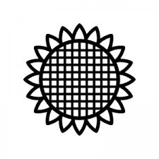 ひまわりのシルエット02 無料のaipng白黒シルエットイラスト