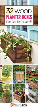 diy pallet and wood planter box decorations