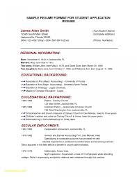Resume Format For Students Cool 48 College Resume Template Sample Examples Free Premium Templates