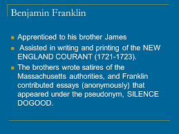 benjamin franklin benjamin franklin born in boston on jan  4 benjamin franklin apprenticed