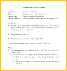 Speech Outline Format Speech Outline Template Simplish Info