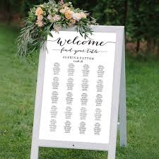 Turn A Sandwich Board Into A Wedding Seating Chart Its