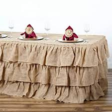 The perfect color palette for any event venue or buffet table depends on your theme. Amazon Com Burlap Table Skirt