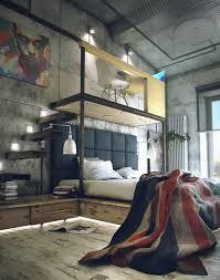 industrial bedroom. industrial bedroom with loft office