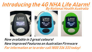 introducing australia s first premium 4g life alarm medical pendant the nha life alarm is a 4g mobile life medical alarm fall detector