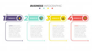 Web Chart Template Business Infographics Template Timeline With 4 Steps