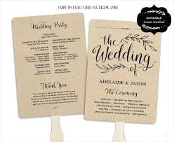 Free Microsoft Word Wedding Program Template Wedding Program Template Free Word Documents Fan Model