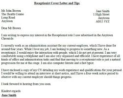 Cover Letter Receptionist Hotel Adriangatton Com
